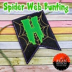 Spider Web Bunting - 4 hoop Sizes and 6 design options INCLUDED